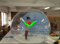 Hot sale PVC Christmas show tent inflatable snow sphere globe