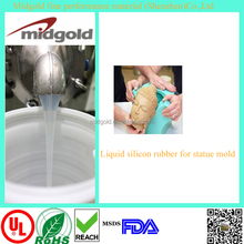 High transparent mold making liquid silicon rubber for artistical statue molds