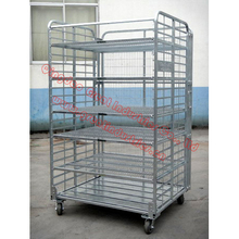 Foldable Roll Container ,foldable trolley,danishe trolley,display flower trolley,plant trolley,flower display trolley,TC4843
