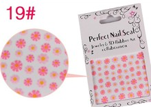 japanese nail stickers 3D Nail Dryer Flowers Nail Art 3D Stickers Flowers Design Manicure Tips Decal Decorations