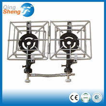 Factory Price 2 Burners Portable Gas Stove, Folding Camping Stove
