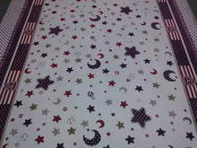 Star Printed Baby Bedding Fabric Coral Fleece Knit Fabric