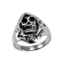 Dongguan Factory High Quality Fashion Stainless Steel Casting Skull Rings For Cool Man