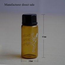 wholesale mini amber glass sex pills tablet bottle packaging with screw cap