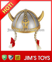 2014 New product plastic toy helmet hat with braid king ropes hats wholesale