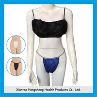 Ladies disposable sexy fancy panty and bra sets