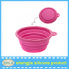 Hot sale folding silicone pet bowls and dog bowl