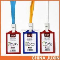 Wholesale RBD Fashion PVC lanyard transparent id card holder name bedge
