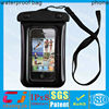 Eco-friendly pvc waterproof mobile phone bag for Iphone 5 with string