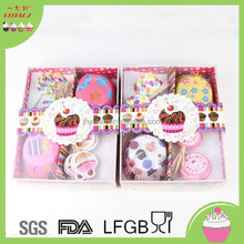 Funny Cake Toppers,Cake Decoration Kit,Baking Cake Cup With Picks Set