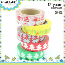 Paper Sticky Adhesive Sticker Decorative Washi Tape for Christmas Decoration