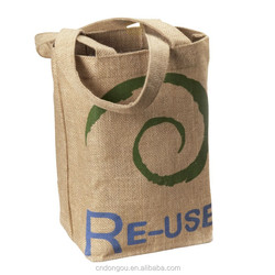 best selling cheap jute shopping bag, blank jute tote bag