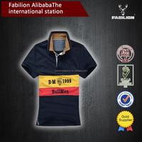 High quality man lapel t-shirts leisure new men's clothing wholesale big yards of cheap polo shirt