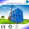 wholesale economical cheap modern two bedroom steel frame sandwich panel prefabricated house