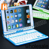 New Arrival Removeable Flip Hard PC Case Bluetooth Keyboard For iPad Mini