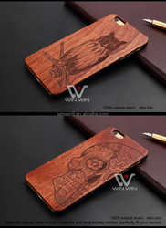 Wholesales Creative Cell Phone Case For Iphone 6 plus Laser carving wood phone case custom