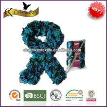 2015 fancy webbed fishnet yarn for hand knitting scarf