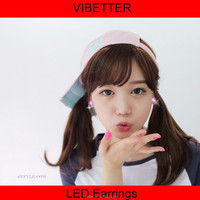 LE-BF wholesale Butterfly earrings 2015 Europe and America Hot Selling New Design Flashing Led Earring