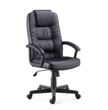 High Back Leather Executive Office Chair, Comfortable PU Swivel Manager Furniture Chair, PU Commercial Office Lift Chair