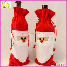 New Christmas Decorations Red Wine Bottle Cover Bags Xmas Santa Claus Christmas Table Dinner Decoration Ornaments Home Ornament