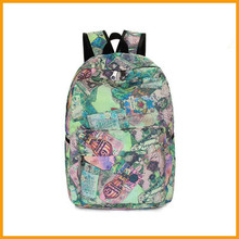 Printed Lady Canvas School Backpack Manufacturers China