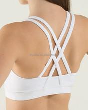 wholesale sportswear cotton spandex white lady plain crop top