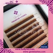 0.05/0.07/0.10/0.15mm I Curl Straight Mink Brown Silk Mink Eyebrow Extension