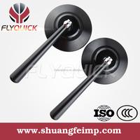 SF-057 sliver black gold universal cnc aluminum mirror Mini side mirror with blue glasses