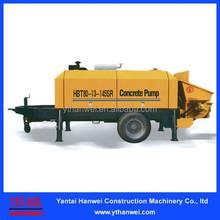 80m3/h diesel engine trailer concrete pump