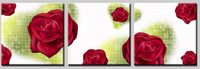 3 Piece Cheap abstract Modern Wall Painting pretty Rose Home Decorative Art Picture Paint on Canvas HH1034