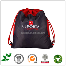 Top grade polyester sports drawstring bag / non woven drawstring backpack