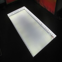 LED edge lit pack for aluminum frame
