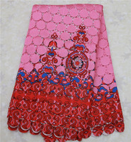 XZ014Z-12 Pink color african cord lace, african guipure lace fabric/lace trim/lace for sewing accessories