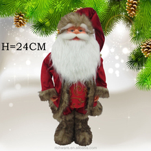 2015 hot popular products christmas santa claus doll decoration wearing fashionable clothes and shoes