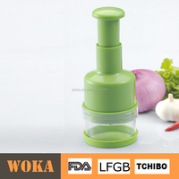 High Quality Plastic Hand Push Onion Chopper With Stainless Steel Blade