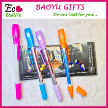 Multifunction Stationery Pull Out Banner Pen Advertising Retractable Banner Pen With Light
