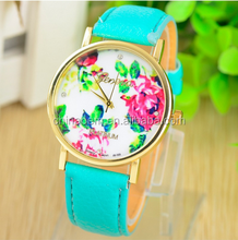 Fashional leather watch flower hand made bracelet for boy and girl