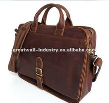 2013 new successful people delicate genuine leather briefcase for men