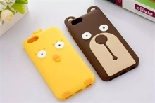 New Arrival Lovely bear Chicken Soft Gel Silicone Back Case for Iphone 6 6 Plus Case