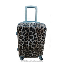leopard printing PC trolley luggage