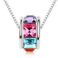 latest design high quality jewelry swarovski element crystal chain necklace
