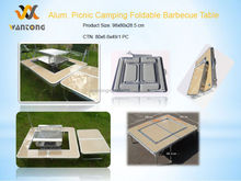 Outdoor Aluminum Camping & Picnic Foldable Barbecue Table