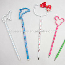 Novelty plastic shape ball pens, ecological pen