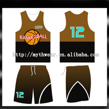 2013 Newest european basketball jerseys / jersey shirts design for basketball / wholesale reversible basketball uniforms