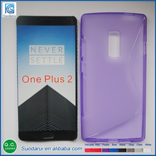 Mix Colors TPU Cell Phone Case For One Plus 2 X-line Soft Gel Cover