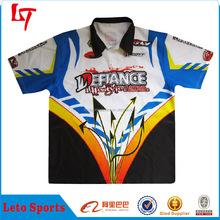 Customized auto racing clothing motorcycle wear kawasaki shirt