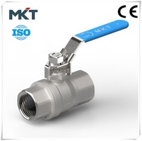 Wenzhou Stainless Steel CF8M 2-PC Inside Threads Both Ends Ball Valve For Water Oil Gas