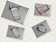 digital printing microfiber pouch bag holder for eyeglass sunglass with special fashion design with custom logo printing