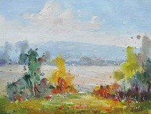 Fabric Paintings Landscape Painting of China for Living Room