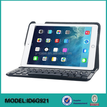 Flip stand removable BT keyboard holster for ipad air 2 ,leather cover case for iPad 6